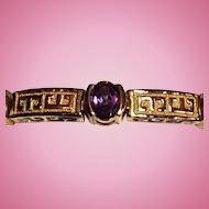 Gold Vermeil Sterling & Color Changing Stone Bracelet