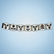 Beautiful Enamel Bracelet by Gertrud Fries- Arauner 1950s