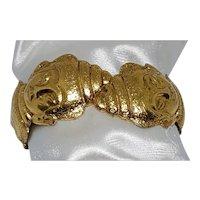 Hobe Asian Theme Faces Clamper Bracelet