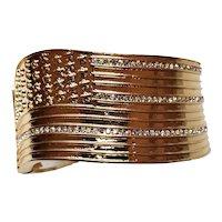 Ann Hand American Flag Cuff Bracelet