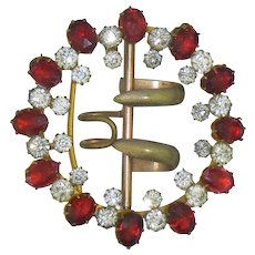 Red & Crystal Vintage Belt Cape Sash Hook