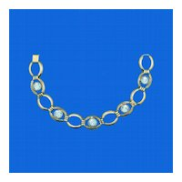 Simmons Light Blue Rhinestone Bracelet