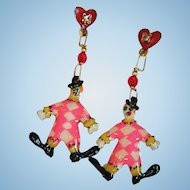 Lunch at the Ritz Clown Snack Earrings