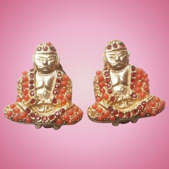 Bergere Buddha Earrings