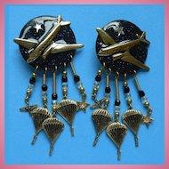 Night Drop Earrings by Moulin Rouge
