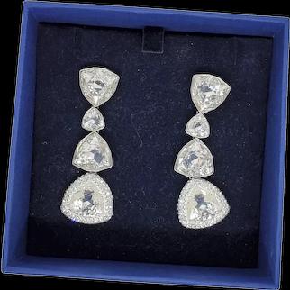 Swarovski Crystal Drop Earrings Original Box with Hangtag