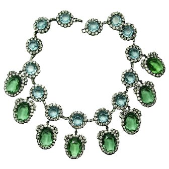 Kenneth J. Lane Treasures of the Duchess Blue & Green Necklace
