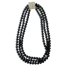 Elizabeth Taylor for Avon Black Pearl Necklace