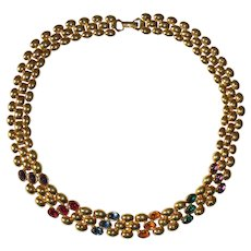 Napier Oval Rhinestones Necklace