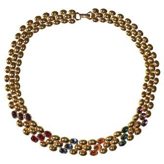 Napier Oval Rhinestones Necklace