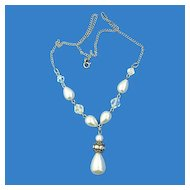 Raffaele Sterling & Faux Pearl Necklace
