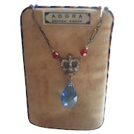 British Red White & Blue Crown Coronation Necklace - Adora