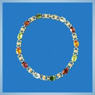 Panetta Multi Colored Rhinestone Necklace