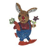 Sparkling Rhinestone Bunny Rabbit Pin