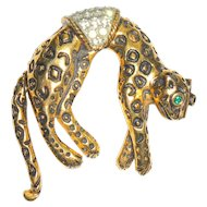 Florenza Leopard Pin with Mechanical Tail