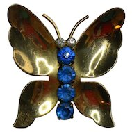 Coro Sterling Vermeil Butterly Pin