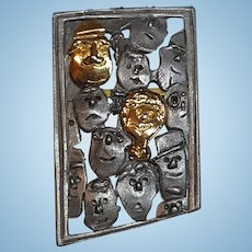 Faces in a Frame Pin