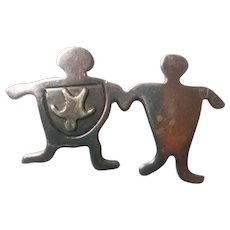 Baby on Board Sterling Figural Pin