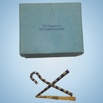 Egyptian Crook & Flail Pin in Original Box
