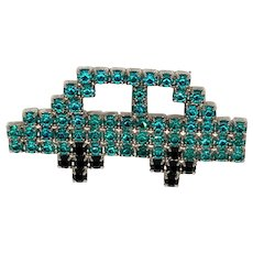 Bauer Teal Rhinestone Car