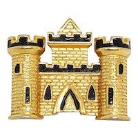 Vintage Trifari Castle Pin