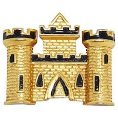 Vintage Trifari Castle Pin