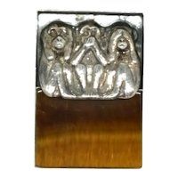 Hear No Evil Speak No Evil See No Evil Monkey Brooch - GFMW