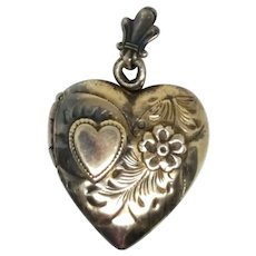 Sterling & Gold Vintage Heart Locket