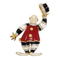 KJL Ringmaster Clown Pin - Book Piece