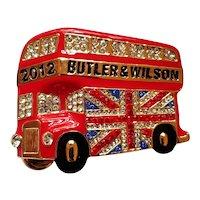 Butler & Wilson English Double Decker Bus Pin