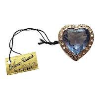 Arlene Francis Heart Pin by Leru - Original Hang Tag