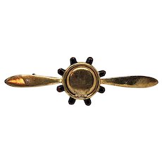 1940 Silson Patriotic Airplane Propeller Locket Pin Book Piece