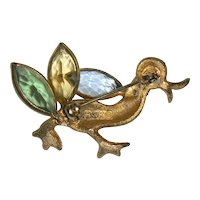 BSK Quacking Duck Figural Pin