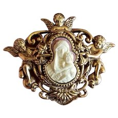Virgin Mary & Baby Jesus Cameo Vatican Collection Pin