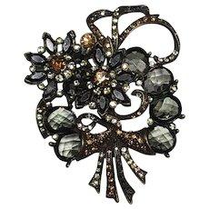 Vintage Avon Smokey Flower Bouquet Pin