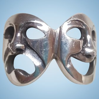 Comedy Tragedy Theater Masks Ring