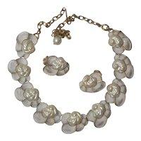 Judy-Lee Faux Pearl Necklace Earring Set