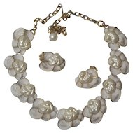 Judy-Lee Faux Pearl Necklace Earring Set