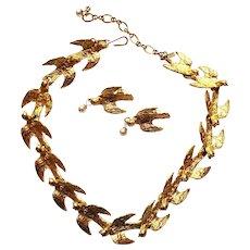 Monet Dove Necklace & Earring Set
