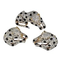 Fabulous Carolee Spotted Leopard Pin & Earring Set