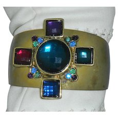 Maltese Cross Wide Bracelet