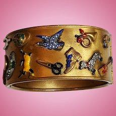 Enamel Characters Bracelet