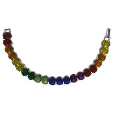 Rainbow Rhinestone Bracelet