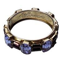 Purple & Lavender Clamper Bracelet Engraved Vivian