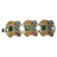 Multi-Colored Mega Rhinestone Bracelet