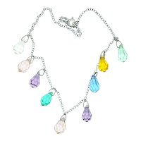 Colored Glass Drops Necklace