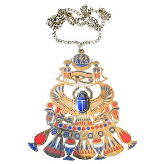 Unsigned Accessocraft Egyptian Necklace