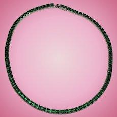 Emerald Green Rhinestone Choker