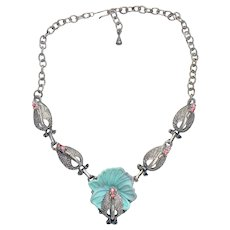 Pretty Peacocks All in a Row Necklace