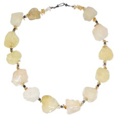 Raw Quartz Nuggets Necklace